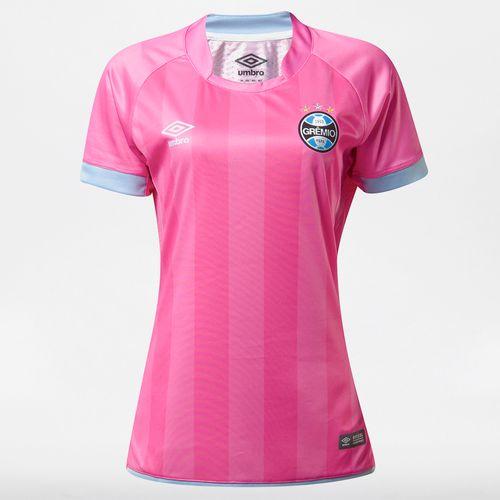 Camisa Feminina Grêmio Comemorativa Outubro Rosa 2017