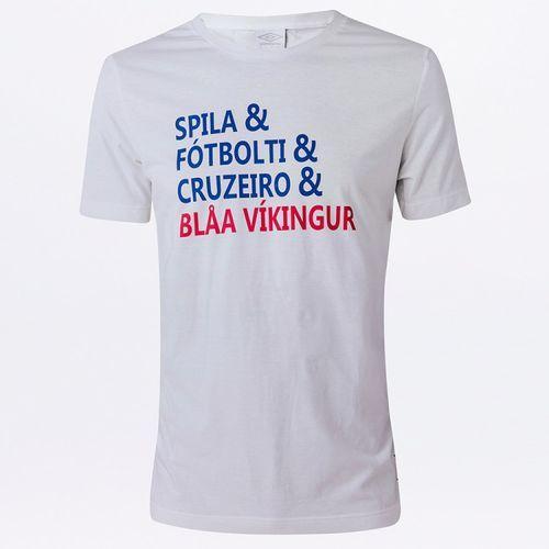 Camiseta Masculina Torcedor Cruzeiro Lettering