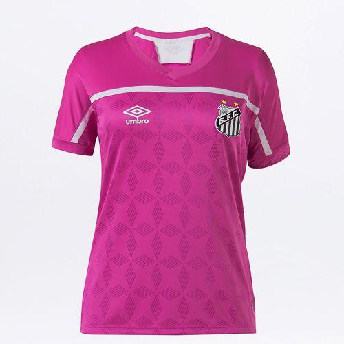Camisa Feminina Umbro Santos Comemorativa Outubro Rosa 2020
