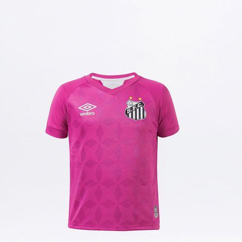 Camisa Infantil Umbro Santos Comemorativa Outubro Rosa 2020