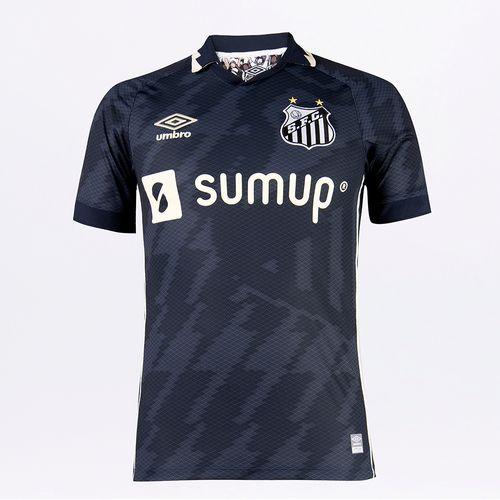Camisa Masculina Umbro Santos Of.3 2021 (Classic)