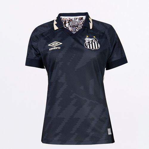 Camisa Feminina Umbro Santos Of.3 2021 (Atleta S/N)
