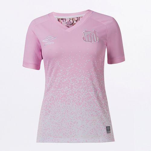 Camisa Feminina Umbro Santos Outubro Rosa 2021