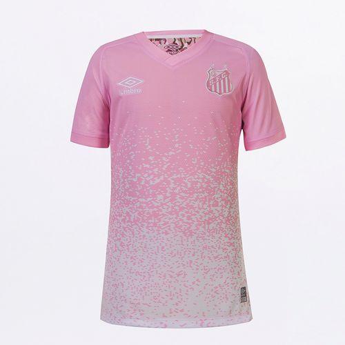 Camisa Junior Umbro Feminina Santos Outubro Rosa 2021