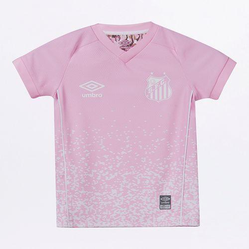 Camisa Infantil Umbro Santos Outubro Rosa 2021